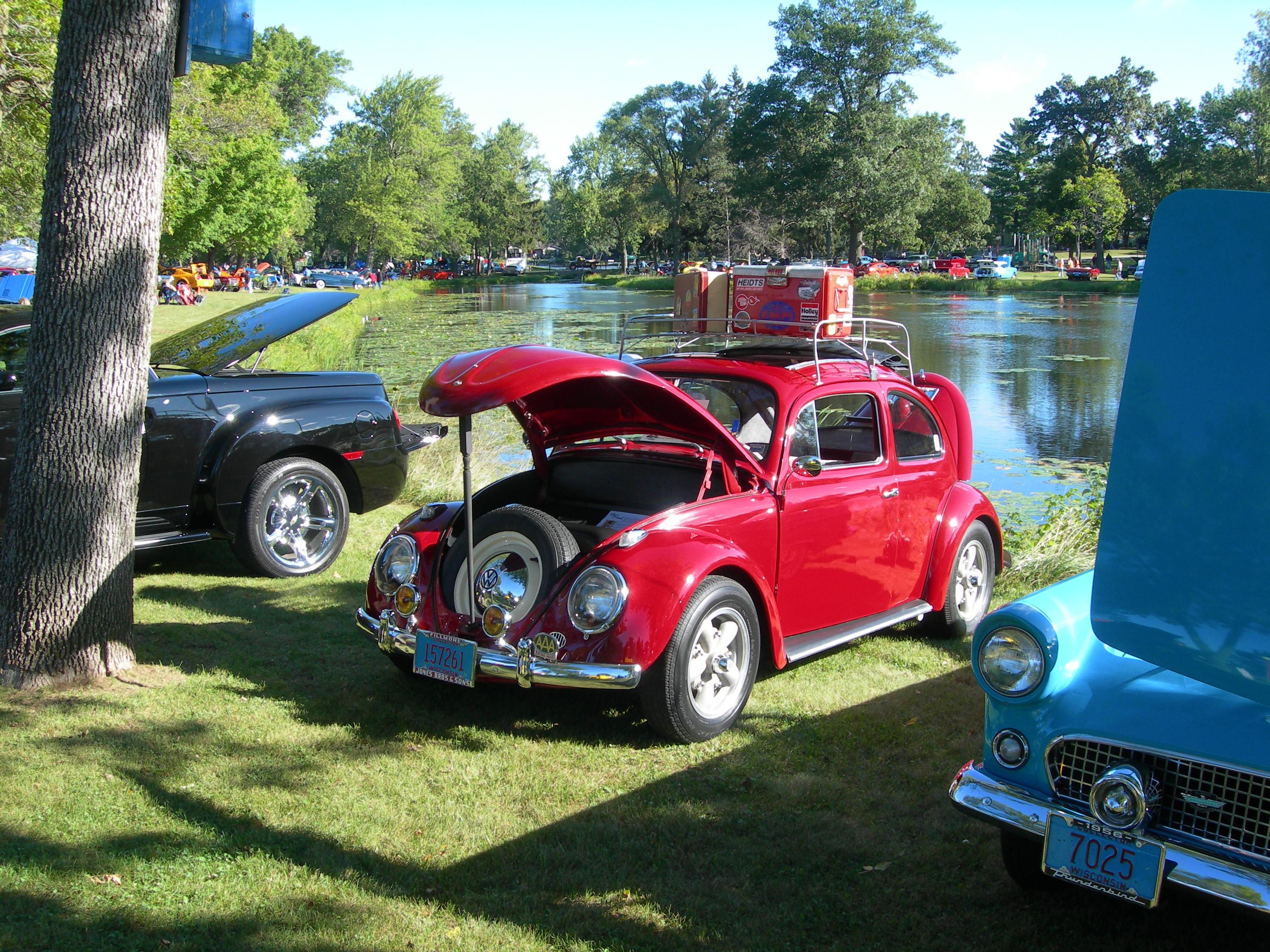 1958 Volkswagen Beetle Ragtop for trade for Bus